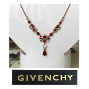 Givenchy Red Crystal necklace